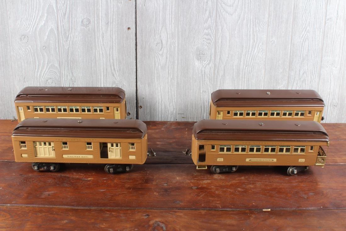 4 Lionel Pressed Steel Pullman Cars