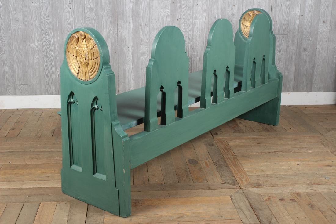 Folk Art Fraternal Lodge Bench - 3