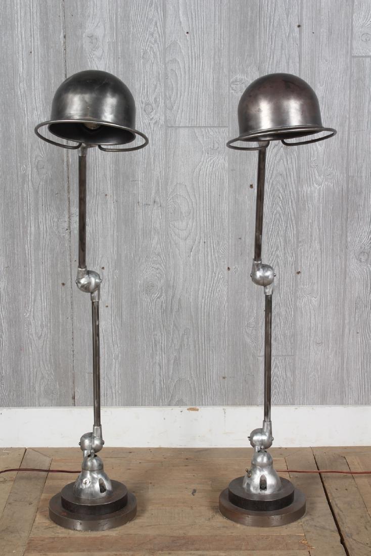 2 French Jielde Industrial Lamps