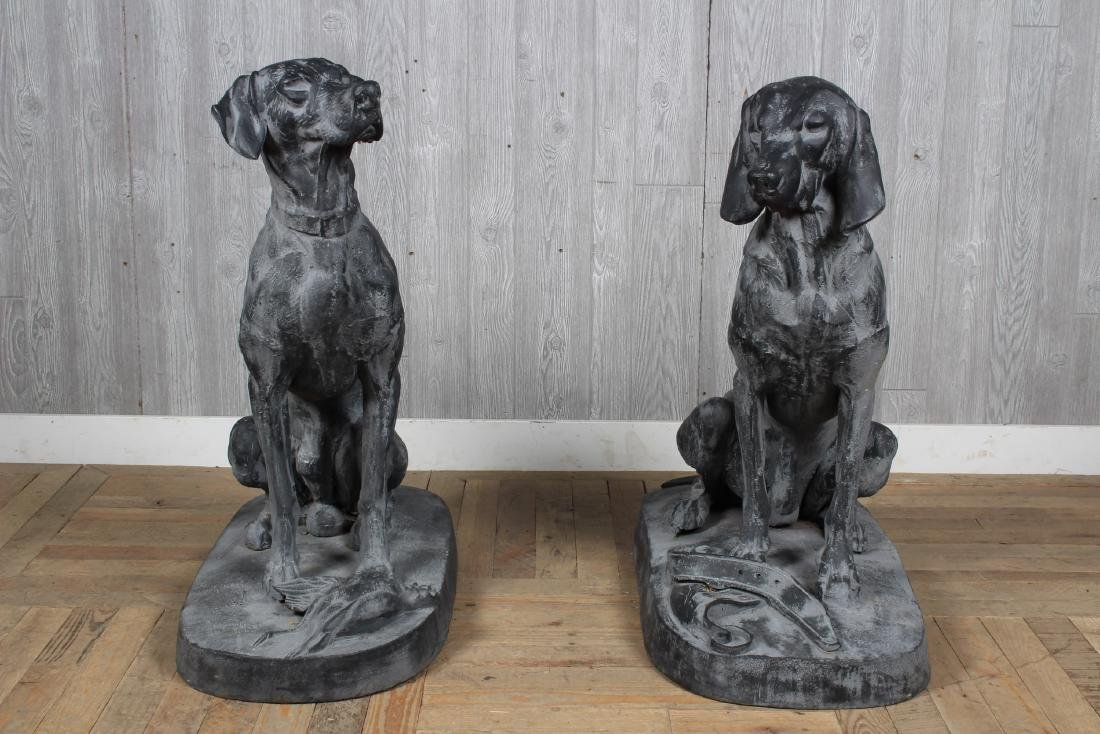 Figural Cast Iron Dogs