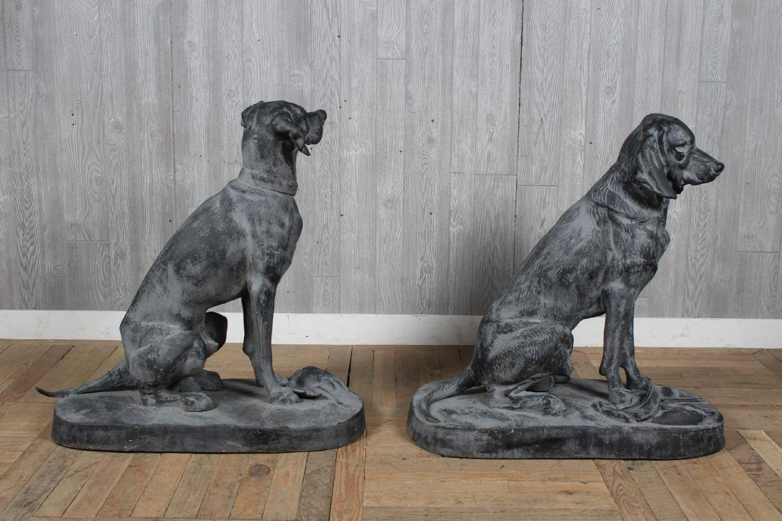 Figural Cast Iron Dogs - 2