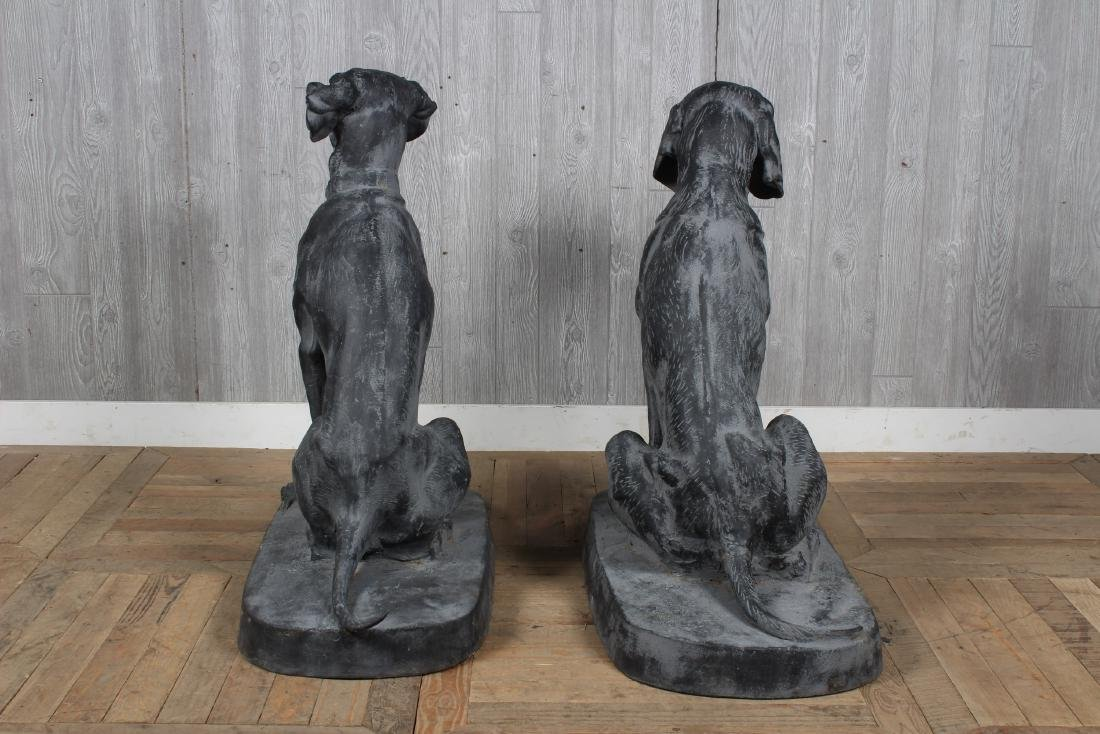 Figural Cast Iron Dogs - 3