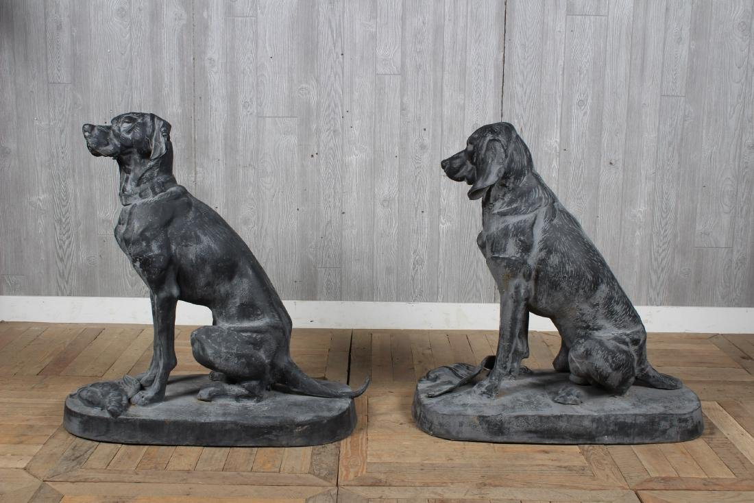 Figural Cast Iron Dogs - 4