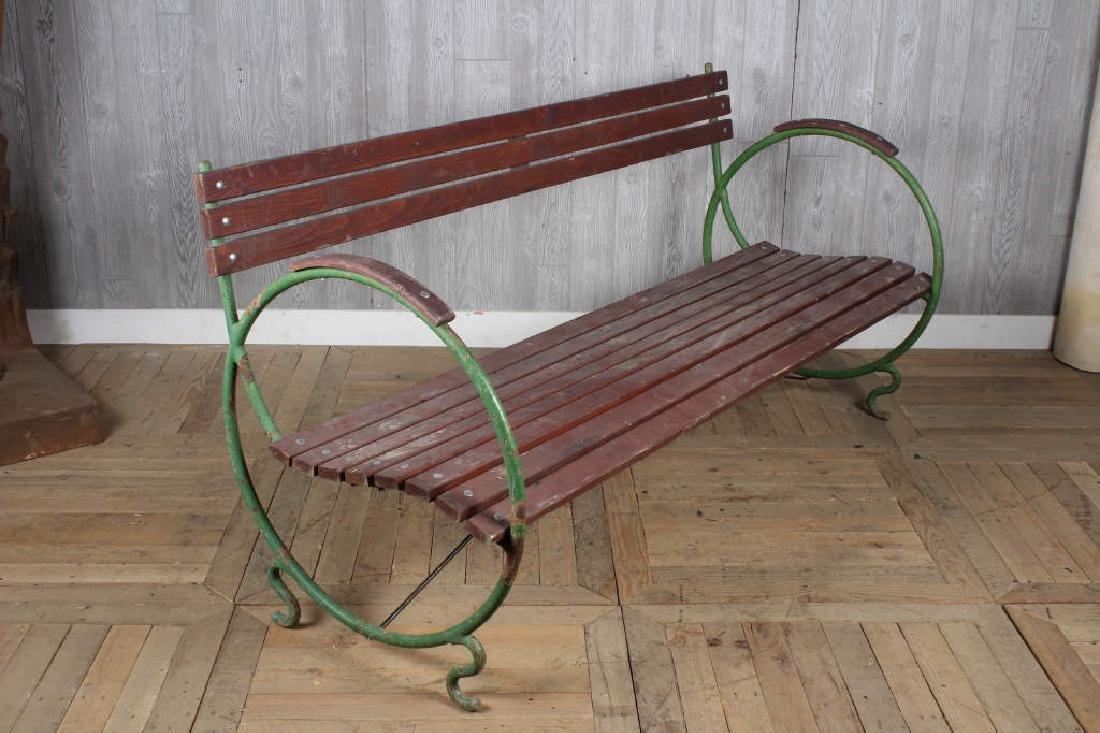 Art Deco French Garden Bench