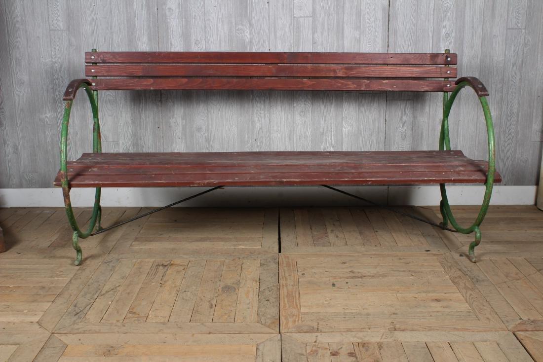 Art Deco French Garden Bench - 3