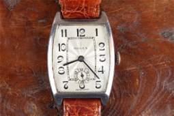 1937 Sterling Silver Rolex Tank Watch