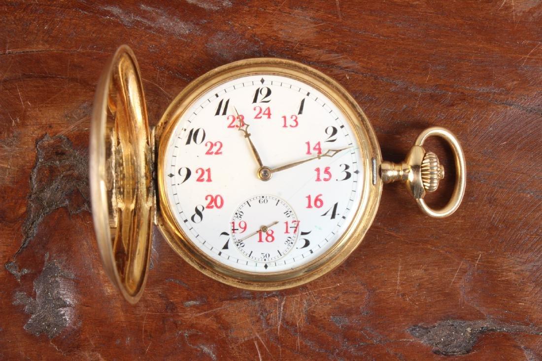 18K Gold Omega Pocket Watch