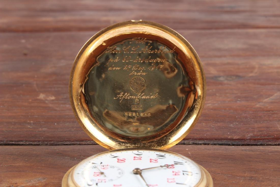 18K Gold Omega Pocket Watch - 3