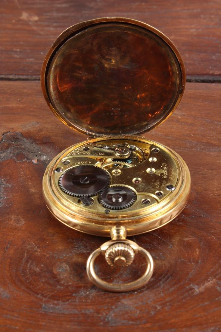 18K Gold Omega Pocket Watch - 5