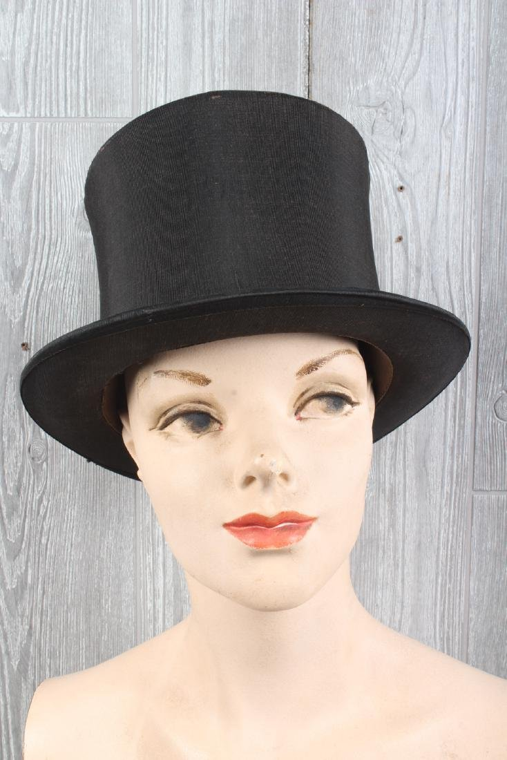 Lord & Taylor Collapsible Silk Top Hat