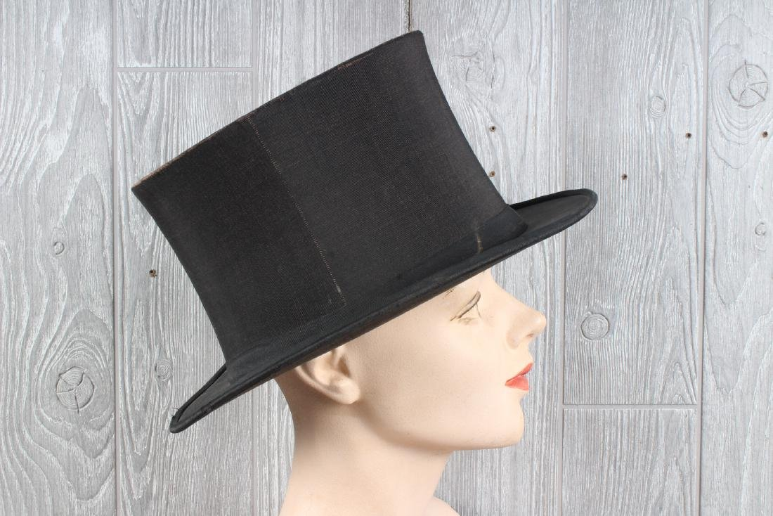 Lord & Taylor Collapsible Silk Top Hat - 2