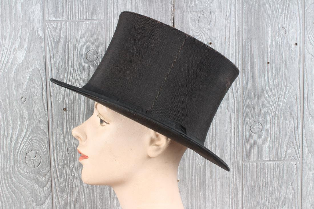 Lord & Taylor Collapsible Silk Top Hat - 4