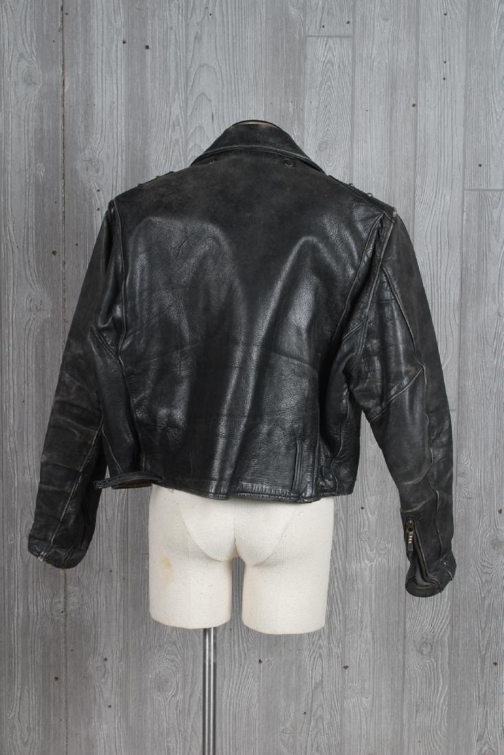 Vintage Studded Leather Motorcycle Jacket - 2