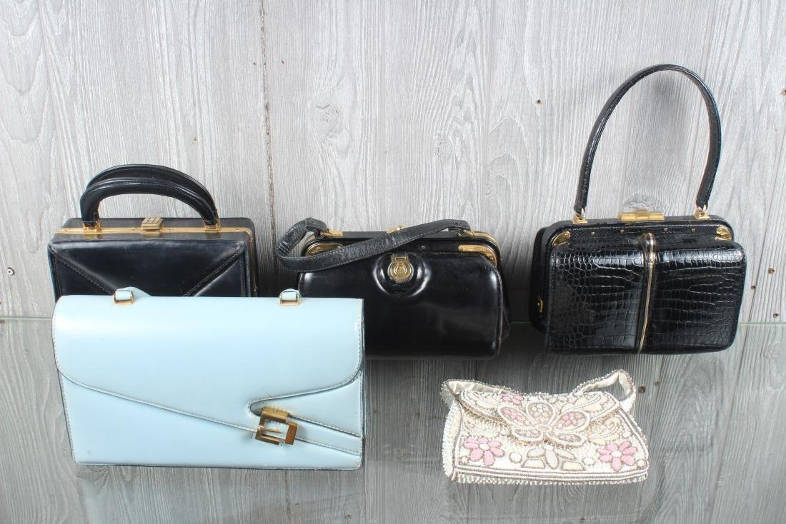 Group of 5 Vintage Handbags