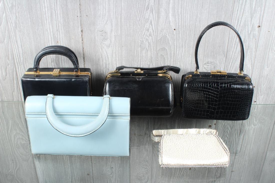 Group of 5 Vintage Handbags - 7
