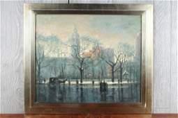 Arthur Goodwin (1864-1929 New England) Cityscape