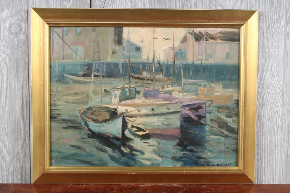 Emile Gruppe (1896-1978 Mass.) Harbor Scene