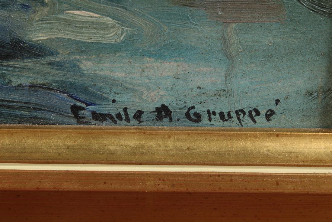 Emile Gruppe (1896-1978 Mass.) Harbor Scene - 2