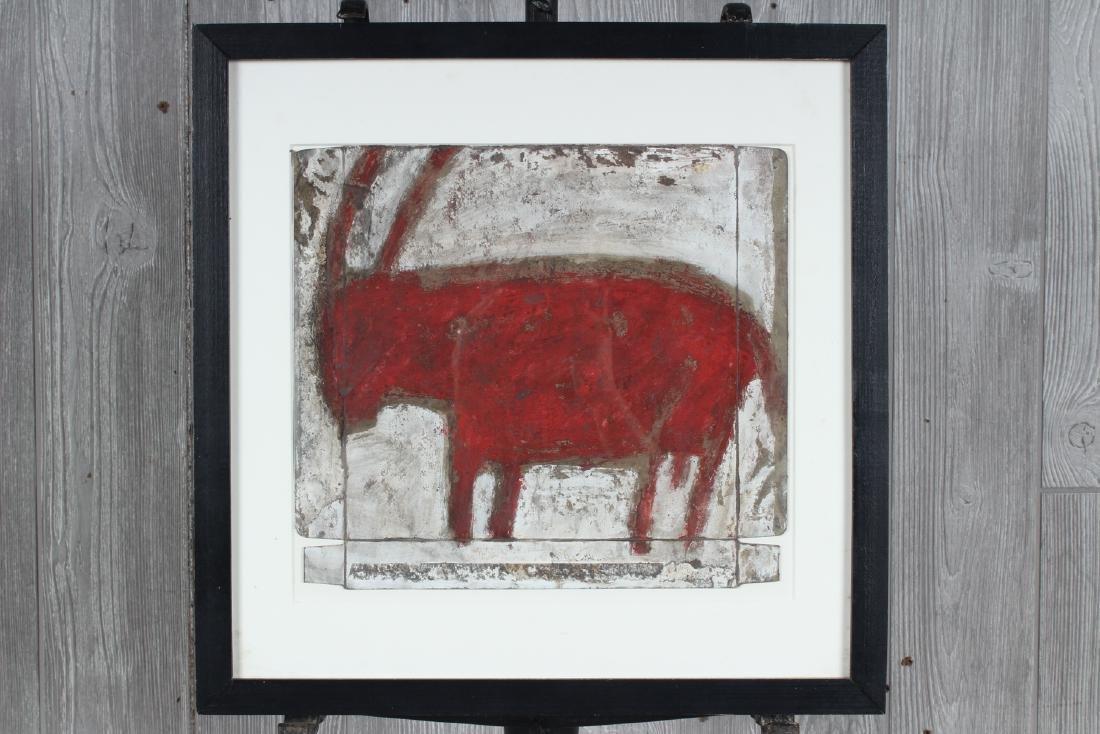Michel Nedjar (b.1947 French) Horned Creature