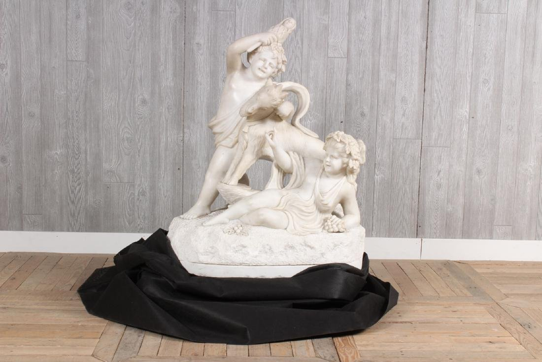After Clodion Marble Sculpture