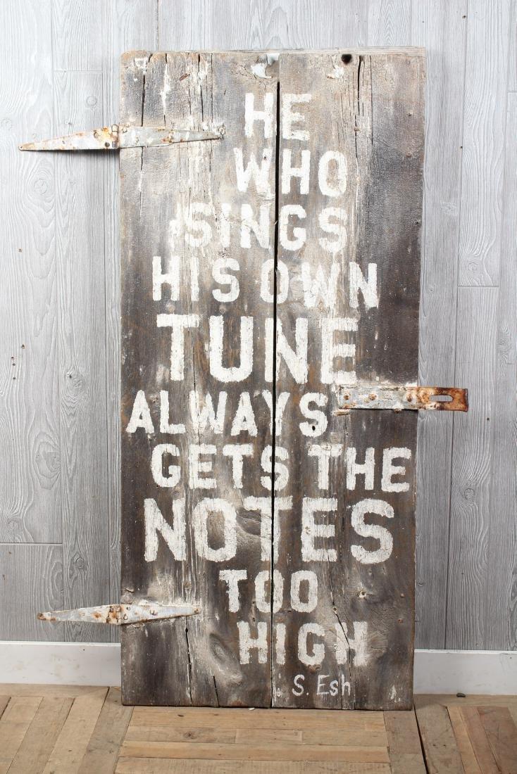 S. Esh Quote Door