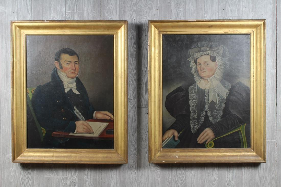 Antique American Folk Art Portraits