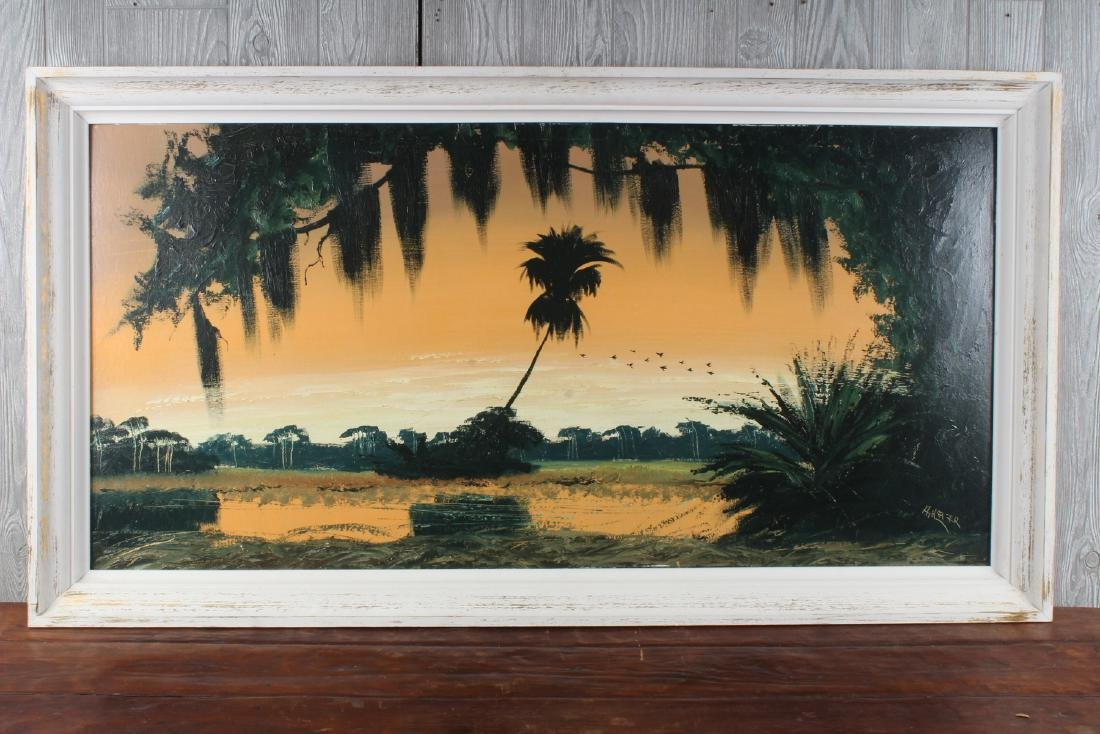 Alfred Hair (Florida, 20th C) Highwaymen Painting