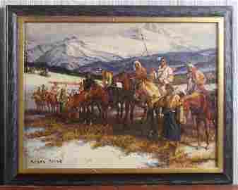 Edgar Payne (20th C American) Horse Break