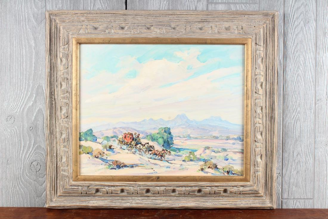 Marjorie Reed (American, 20th) Stagecoach Painting