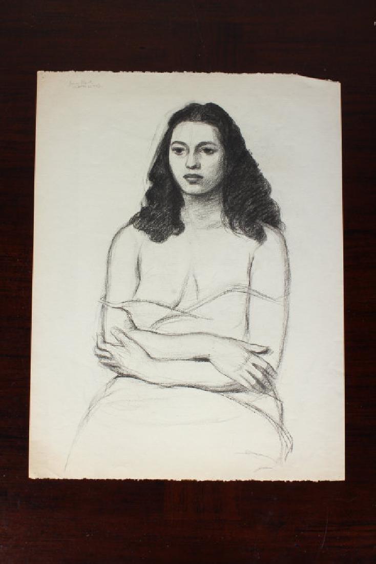 Julius Bloch Academic Figural Female Study