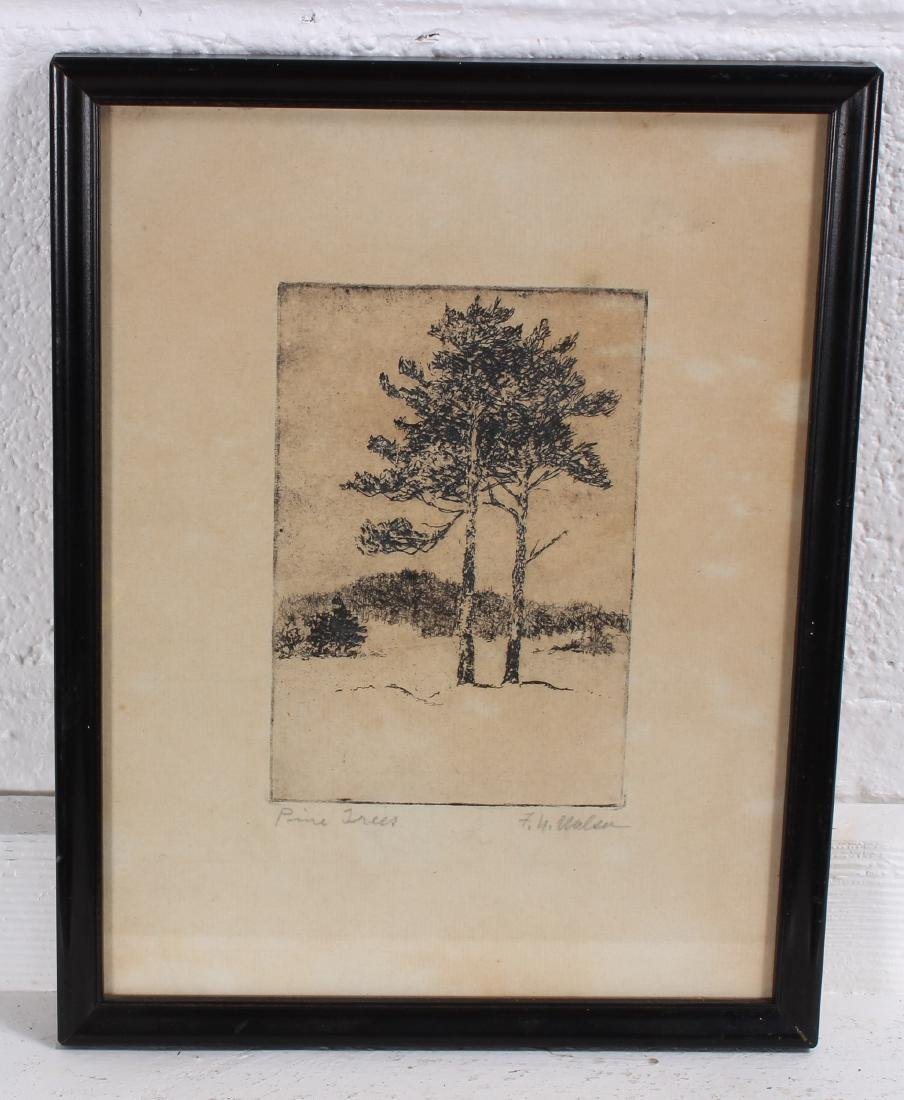 2 Early 20th C American Arboreal Etchings. - 3