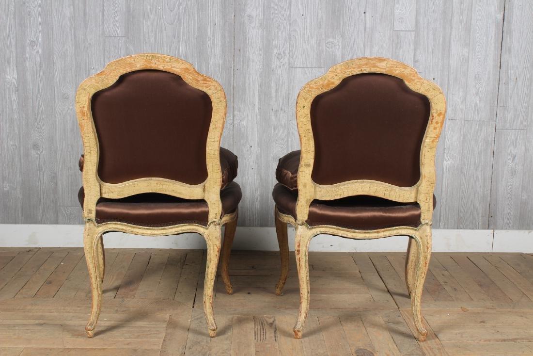 Pair Louis XV Style Slipper Chairs - 3