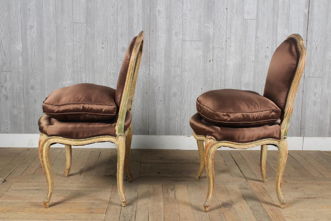 Pair Louis XV Style Slipper Chairs - 4