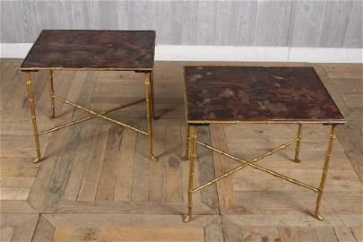 Pair Labeled Maison Jansen Tables