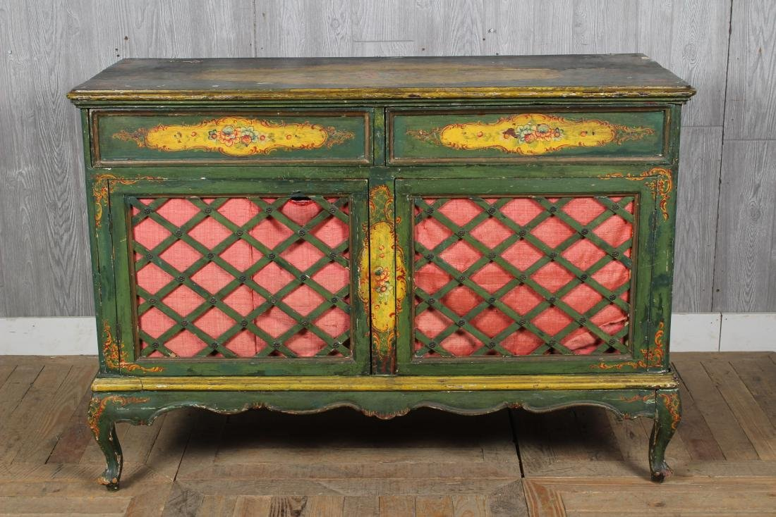 19th C. Painted Italian Commode