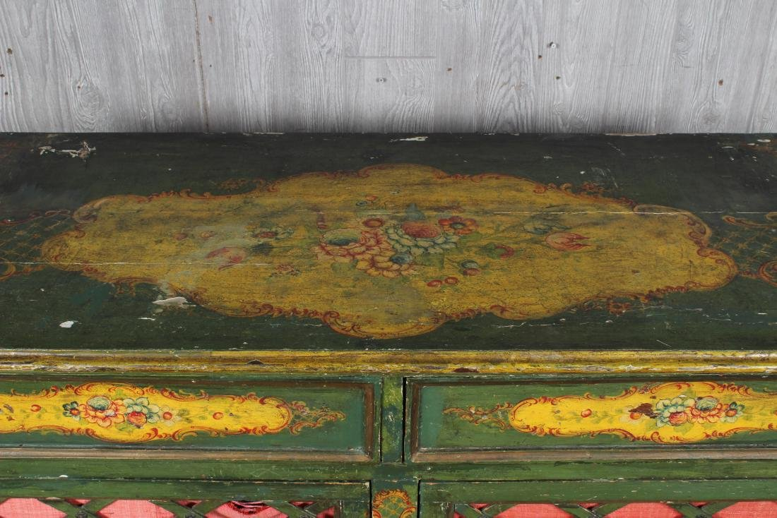 19th C. Painted Italian Commode - 2