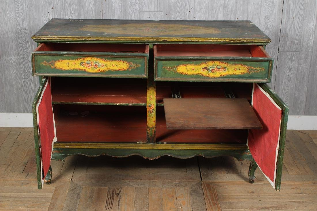 19th C. Painted Italian Commode - 3