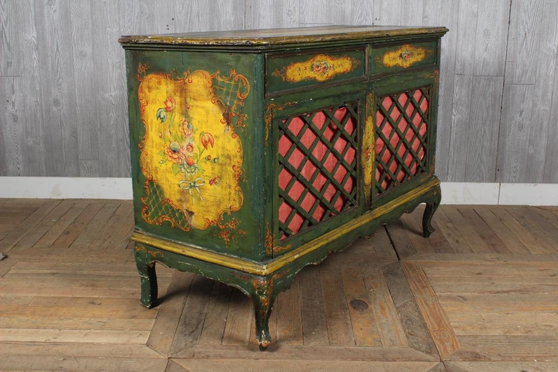 19th C. Painted Italian Commode - 4