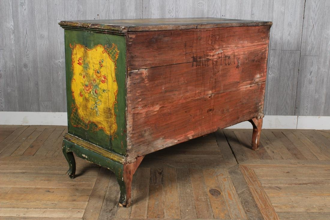 19th C. Painted Italian Commode - 5