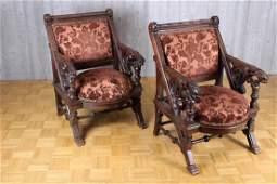 Pair of Daniel Pabst (attrib.) Armchairs