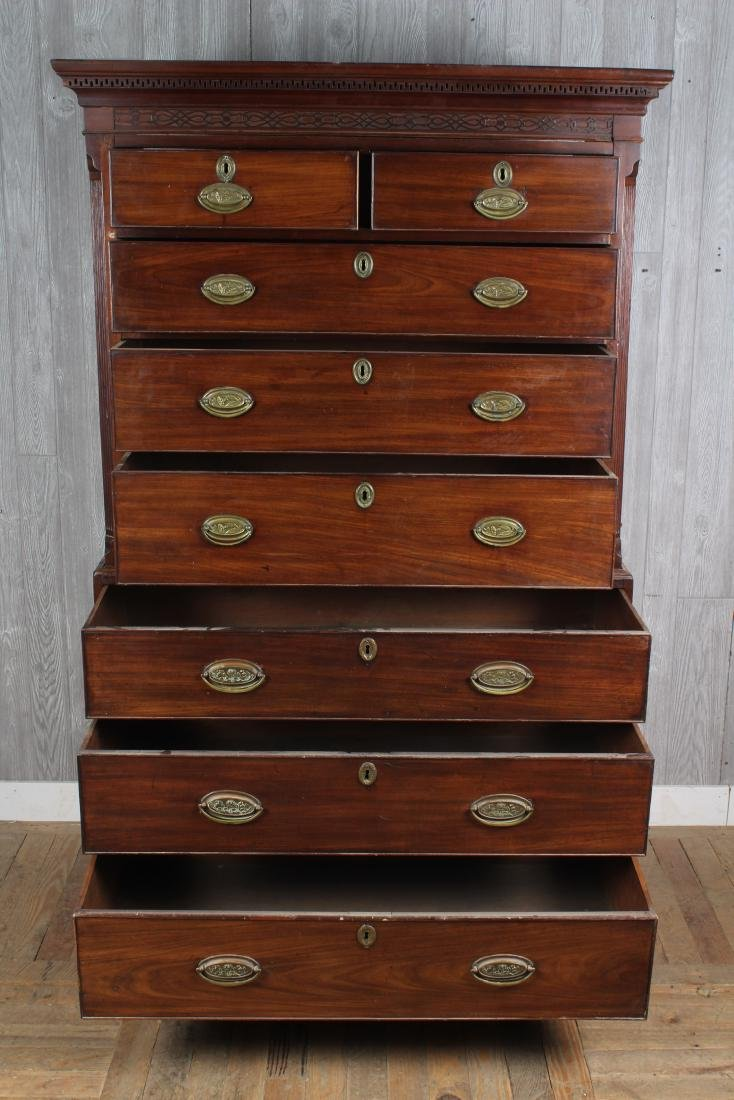 Antique George III Style Chest on Chest - 2
