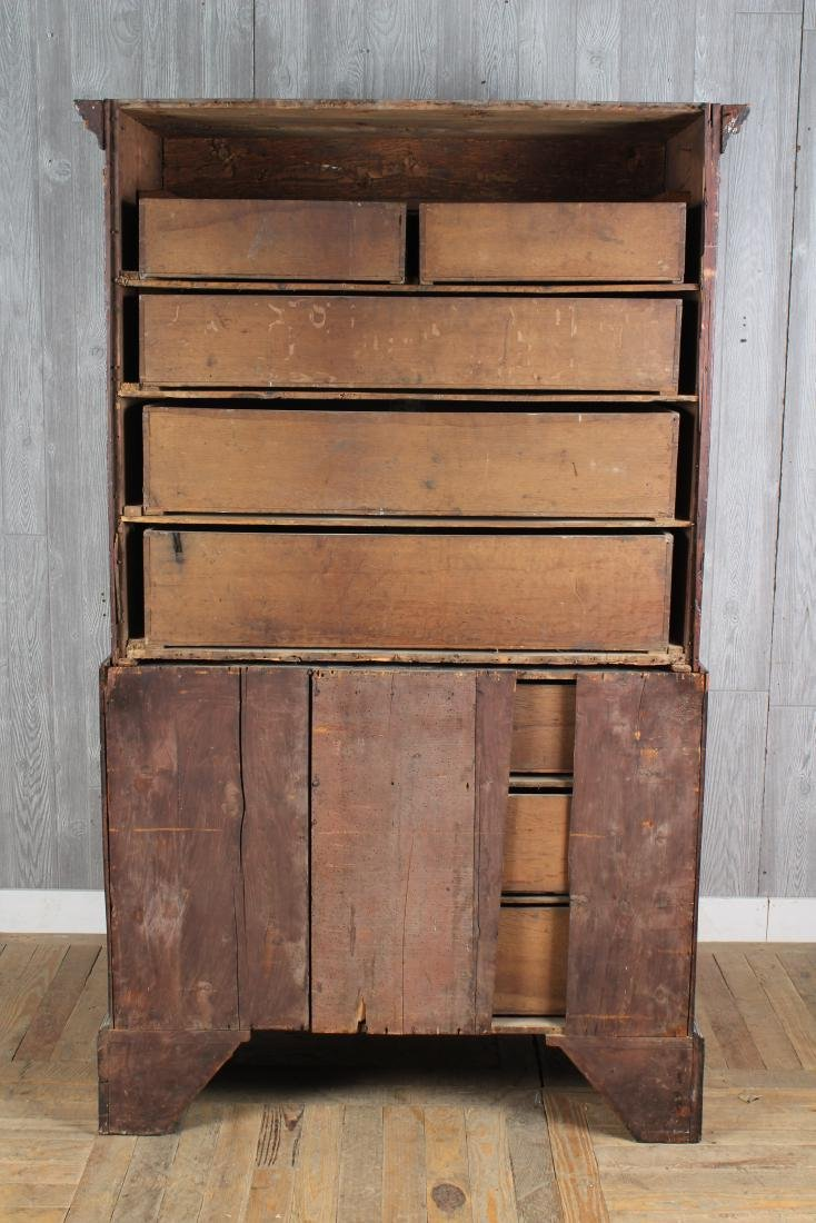 Antique George III Style Chest on Chest - 4