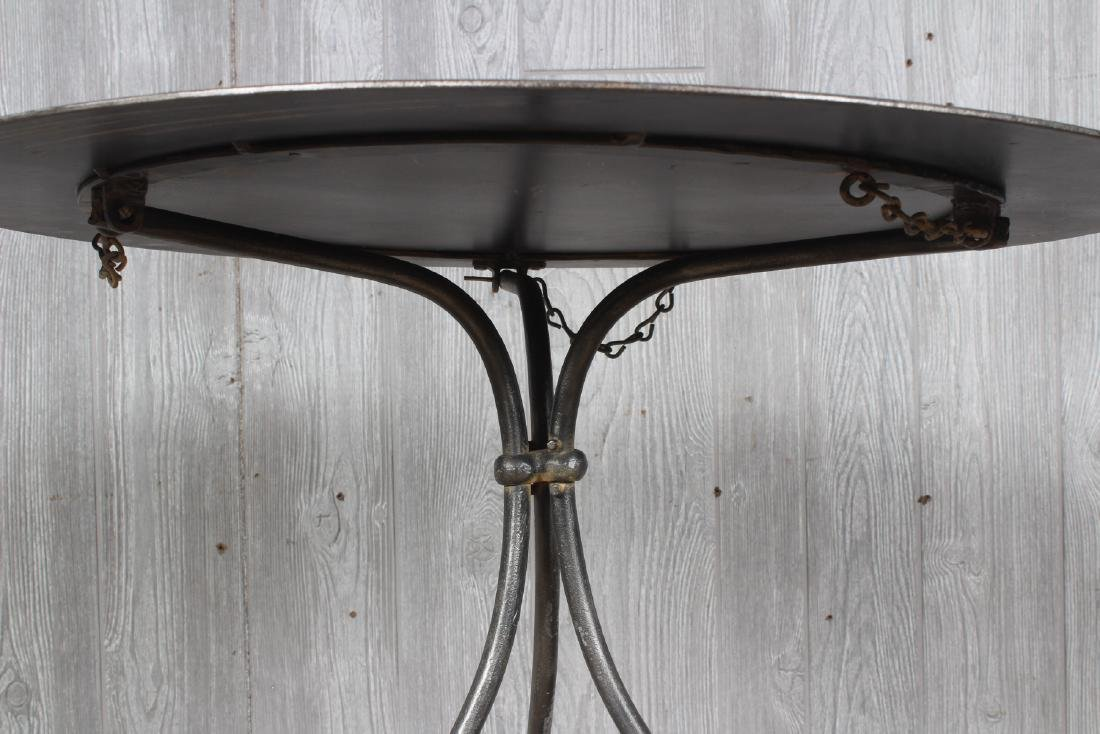 Folding Wrought Iron Occasional Table - 3
