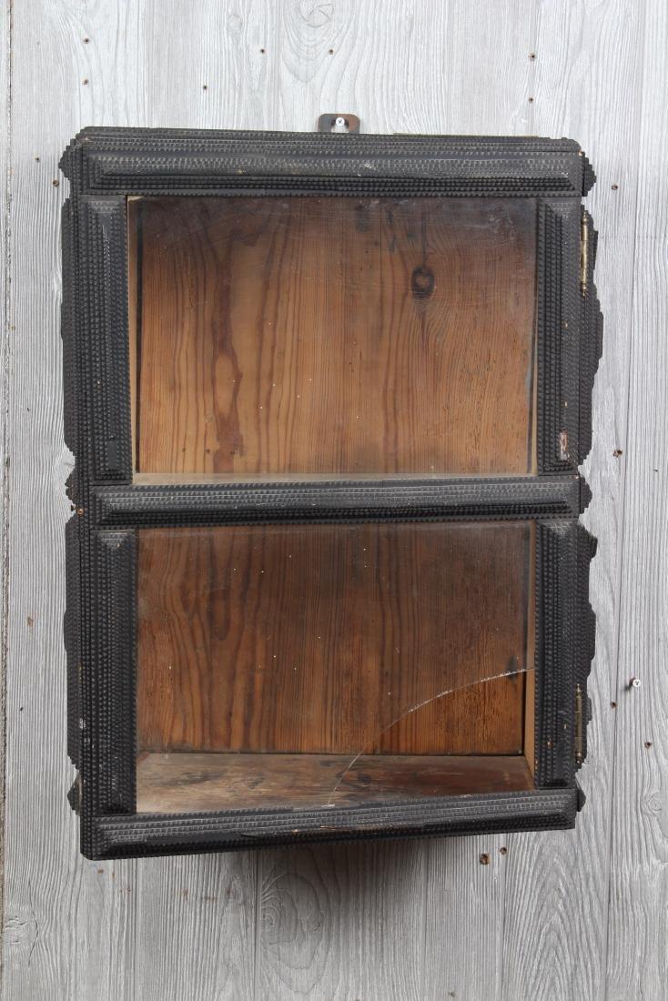 Tramp Art Wall Mounted Cabinet