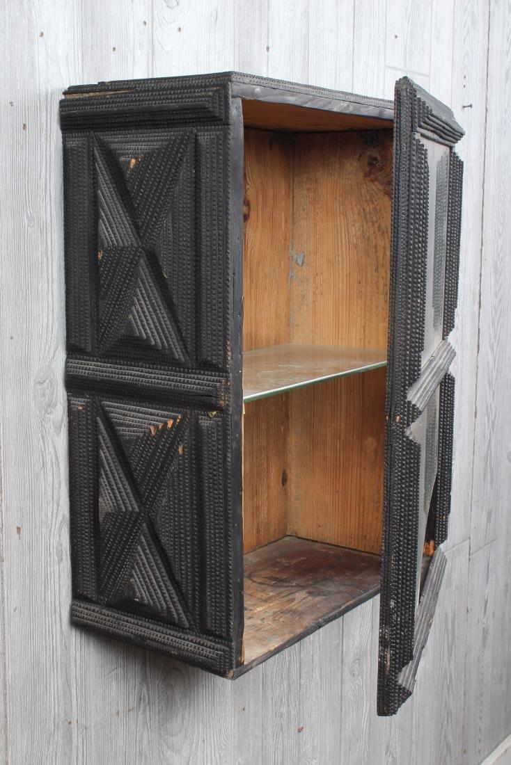 Tramp Art Wall Mounted Cabinet - 3