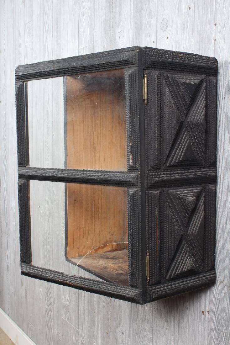 Tramp Art Wall Mounted Cabinet - 4