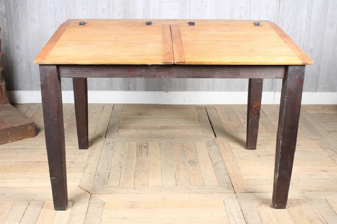Pine Slant Top Chart Desk
