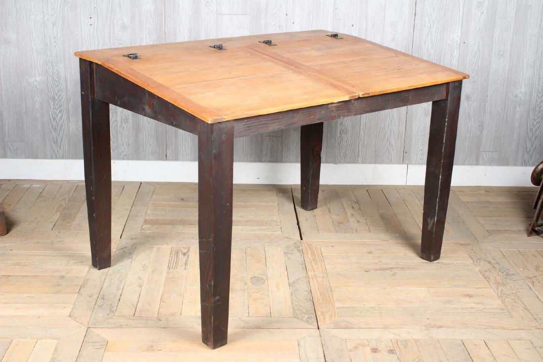 Pine Slant Top Chart Desk - 4