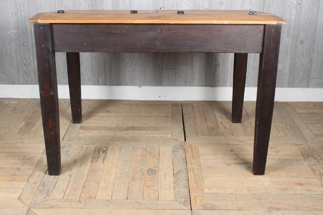 Pine Slant Top Chart Desk - 6