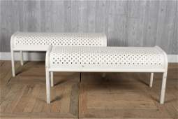 Pair Steel Benches